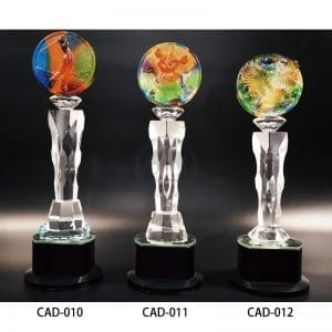 CAD 水晶燈光獎盃製做