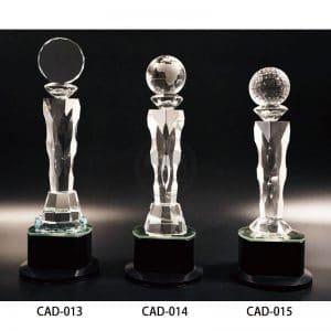 CAD 水晶燈光獎盃製作
