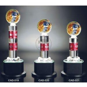 CAD 水晶燈光獎座訂製