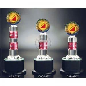 CAD 水晶燈光獎座訂做