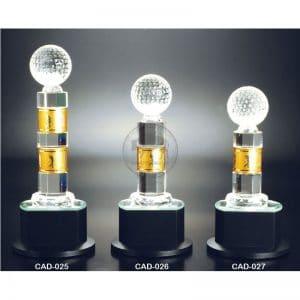 CAD 水晶金屬獎盃製造