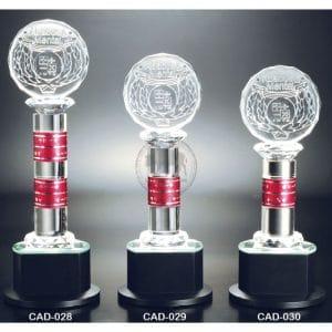 CAD 水晶金屬獎盃製做