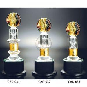 CAD 水晶金屬獎盃製作
