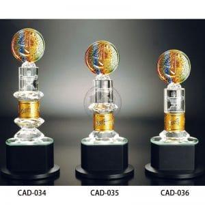 CAD 水晶金屬獎盃設計