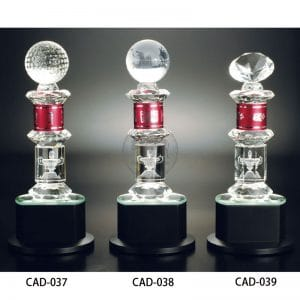 CAD 水晶金屬獎杯訂製
