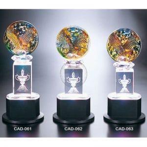 CAD 水晶燈光獎座紀念