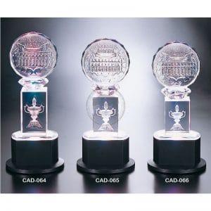 CAD 水晶燈光獎座