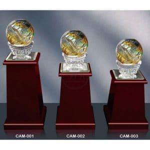 CAM 水晶木質獎座訂製