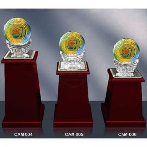 CAM 水晶木質獎座訂做