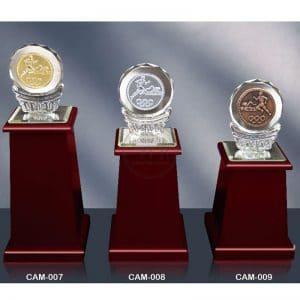 CAM 水晶木質獎盃訂製