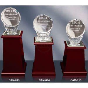 CAM 水晶木質獎座製造