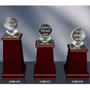 CAM 水晶木質獎座製做