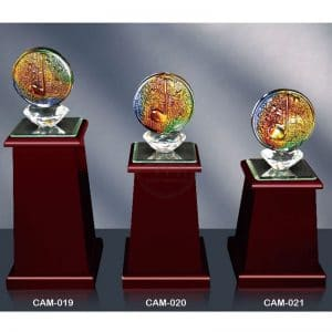 CAM 水晶木質獎盃製造