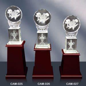 CAM 水晶木質獎座設計