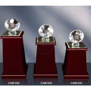 CAM 水晶木質獎座購買