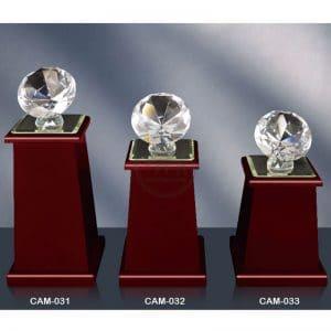 CAM 水晶木質獎座便宜