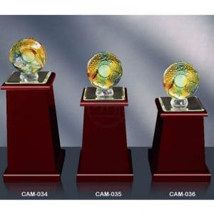 CAM 水晶木質獎座定製