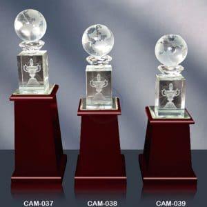 CAM 水晶木質獎座定作