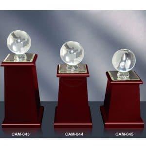 CAM 水晶木質獎座樣式