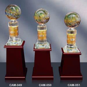 CAM 水晶木質獎座費用