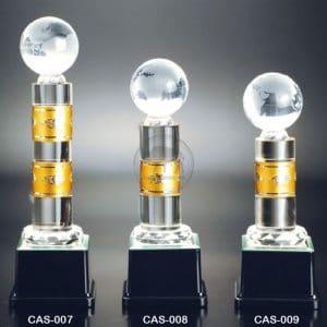 CAS 水晶金屬獎座定製
