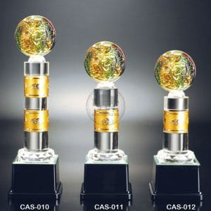 CAS 水晶金屬獎座定作