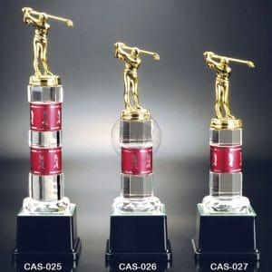 CAS 水晶金屬獎盃定製