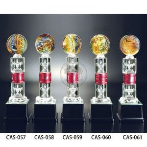 CAS 水晶金屬獎盃紀念