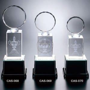 CAS 水晶燈光獎座製作