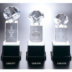 CAS 水晶燈光獎座設計