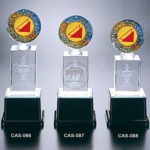 CAS 水晶燈光獎座定製