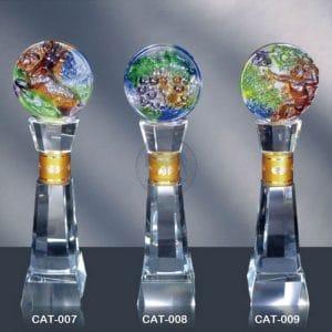 CAT 水晶金屬獎座訂製