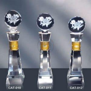 CAT 水晶金屬獎座訂做
