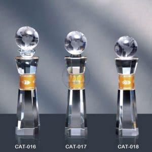 CAT 水晶金屬獎座製造