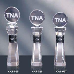 CAT 水晶金屬獎盃訂做