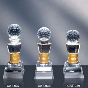 CAT 水晶金屬獎座設計