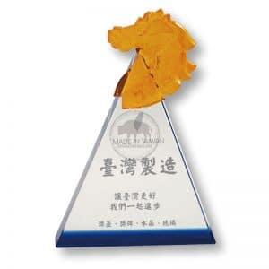 CPT 三角水晶獎牌製造