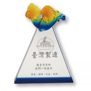 CPT 三角水晶獎牌製做