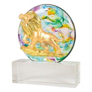 DY  獅子會水精琉璃藝品