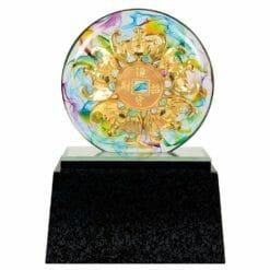 DY  五福臨門水琉璃雕塑藝品