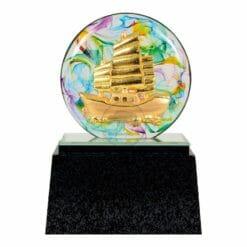 DY  一帆風順水琉璃雕塑藝品