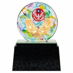 DY  警察水精琉璃雕塑