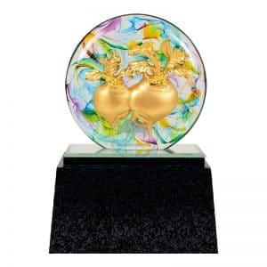 DY  好彩頭水精琉璃雕塑