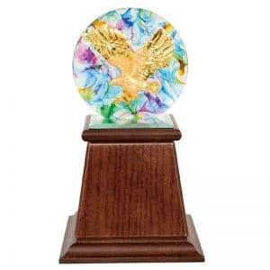 DY  開業水琉璃雕塑獎座