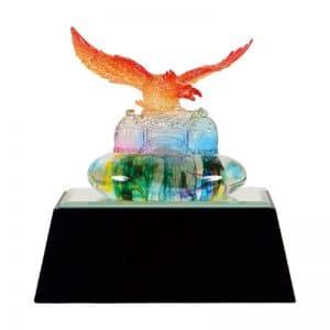 DY  開業水琉璃雕塑獎盃