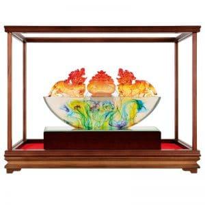 DY 招財貔貅水精琉璃玻璃櫥窗
