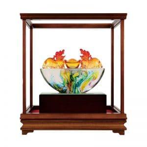 DY 招財貔貅水精琉璃玻璃櫥