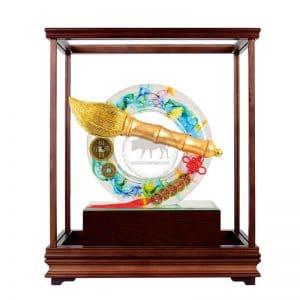 DY 大筆進財水琉璃玻璃櫥