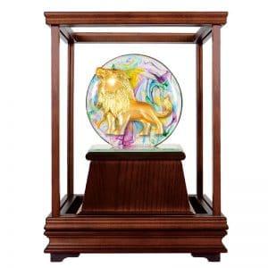 DY 獅子會水精琉璃玻璃櫥窗藝品