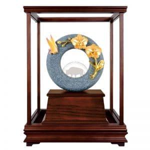 DY 芝蘭之香青斗石玻璃櫥藝品